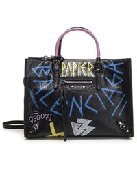 Balenciaga - Papier Graffiti Tote - Lyst