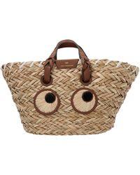 Anya Hindmarch Small Paper Eyes Basket Bag - Natural