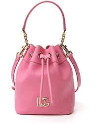 Dolce & Gabbana Logo Bucket Bag - Pink