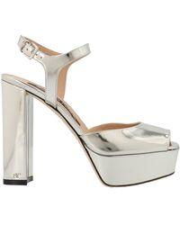 Sergio Rossi Platform Ankle Strap Sandals - Metallic