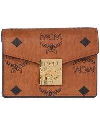MCM Patricia Visetos Trifold Wallet - Brown