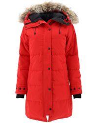Canada Goose Shelburne Down Parka W/ Fur Trim - Red