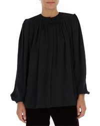 Saint Laurent Long Sleeves Blouse - Black