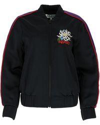 KENZO Logo Embroidered Bomber Jacket - Black