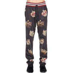 Dolce & Gabbana Crowns Print Pants - Blue