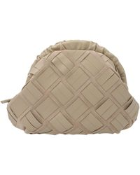 Furla Woven Clutch Bag - Natural