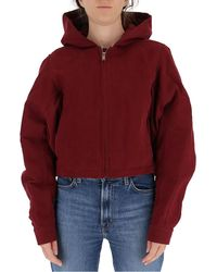 Rick Owens Drkshdw Cropped Jacket - Red