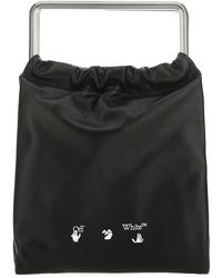 Off-White c/o Virgil Abloh Logo Print Top Handle Bag - Black