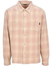 Stussy Plaid Flannel Shirt - Pink