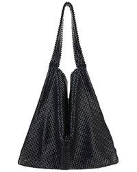 Paco Rabanne Mesh Open Top Shoulder Bag - Black
