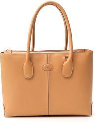 Tod's Medium D-bag Tote Bag - Natural