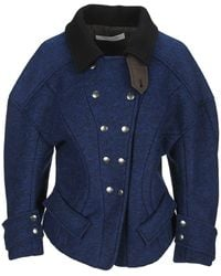 Philosophy Di Lorenzo Serafini Double-breasted Fitted Jacket - Blue