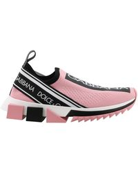 Dolce & Gabbana Branded Sorrento Trainers - Pink
