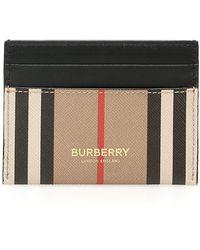 Burberry Icon Stripe Card Case - Black