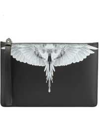 Marcelo Burlon Wings Clutch Bag - Black