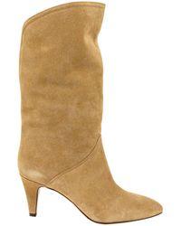 Étoile Isabel Marant Mid-calf Pointed-toe Boots - Natural