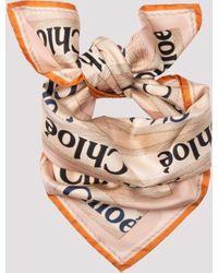 Chloé Chloé Silk Foulard Unica - Multicolour