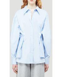 MM6 by Maison Martin Margiela Panelled Oversized Shirt - Blue