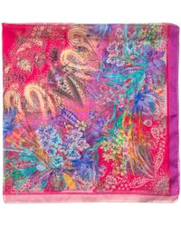 Etro Bombay Floral Printed Scarf - Pink