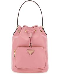 Prada Drawstring Bucket Bag - Pink