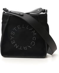 Stella McCartney Logo Hobo Shoulder Bag - Black