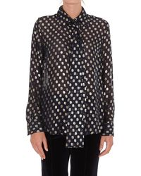 P.A.R.O.S.H. Pussy-bow Dotted Print Blouse - Blue