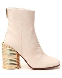 MM6 by Maison Martin Margiela Tin Can Ankle Boots - White