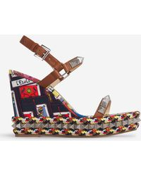 Christian Louboutin Pyraclou Wedge Sandals - Multicolour
