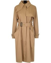 Givenchy Back-striped Cotton Gabardine Trench Coat - Natural