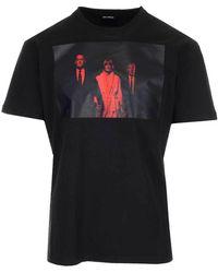 Raf Simons Twin Peaks Graphic-print Cotton-jersey T-shirt - Black