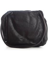 Trippen Logo Detailed Alea Oversized Shoulder Bag - Black