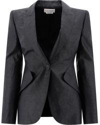 Alexander McQueen Fitted Blazer - Black