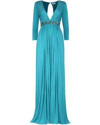 Elisabetta Franchi Sequin Embelished Maxi Dress - Blue