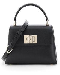 Furla 1927 Top Handle Mini Bag - Black
