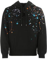 Dolce & Gabbana Paint Splatter Hoodie - Black