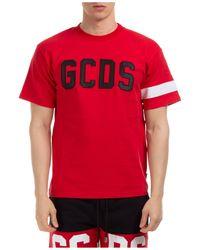 Gcds - Men's Short Sleeve T-shirt Crew Neckline Jumper Logo - Lyst
