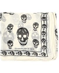 Alexander McQueen All-over Skull Print Scarf - White