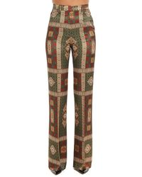 Etro High-rise Printed Trousers - Brown