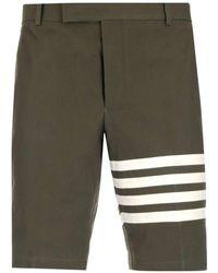 Thom Browne 4-bar Bermuda Shorts - Green