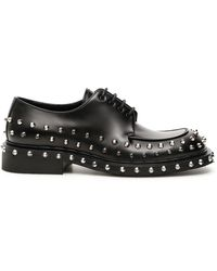 Prada Studded Lace-up Derby Shoes - Black