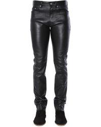 Saint Laurent Black Leather Pants