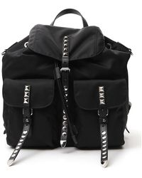Prada Black Stud Embellished Nylon Backpack