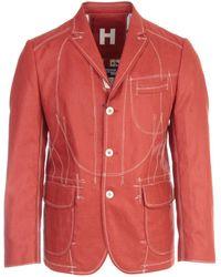Junya Watanabe Contrast-stitched Blazer - Red