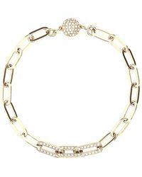 Swarovski Elements Chain Bracelet - Metallic