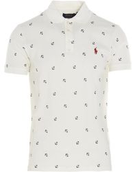 Polo Ralph Lauren All-over Pattern Polo Shirt - White