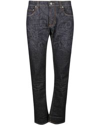 Etro Paisley Printed Jeans - Black
