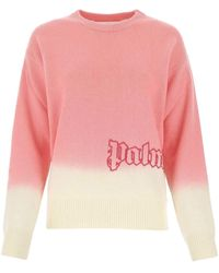 Palm Angels Gradient Knitted Jumper - Pink