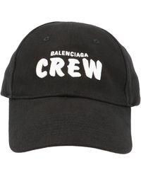 Balenciaga Crew Baseball Cap - Black