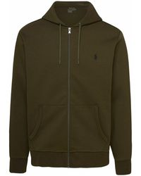 Polo Ralph Lauren - Logo Embroidered Zipped Hoodie - Lyst