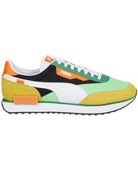 PUMA Colour Polyester Sneakers - Blue